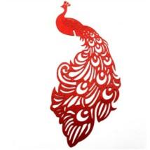 Páva alakú  pohárdisz  piros 10db/csomag