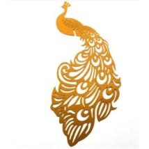 Páva alakú  pohárdísz sárga 10db/csomag