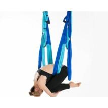 Antigravitációs jóga függőágy színjátszó kék színű 4 méteres