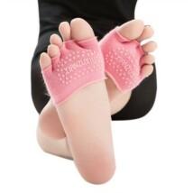 Rózsaszín feles jóga zokni