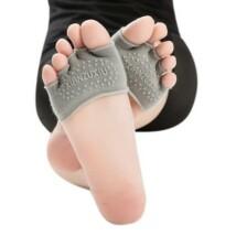 Szürke feles jóga zokni