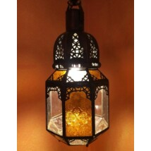 Haifa marokkói mennyezeti lámpa sárga
