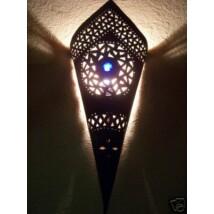 Fatma marokkói fali lámpa kék