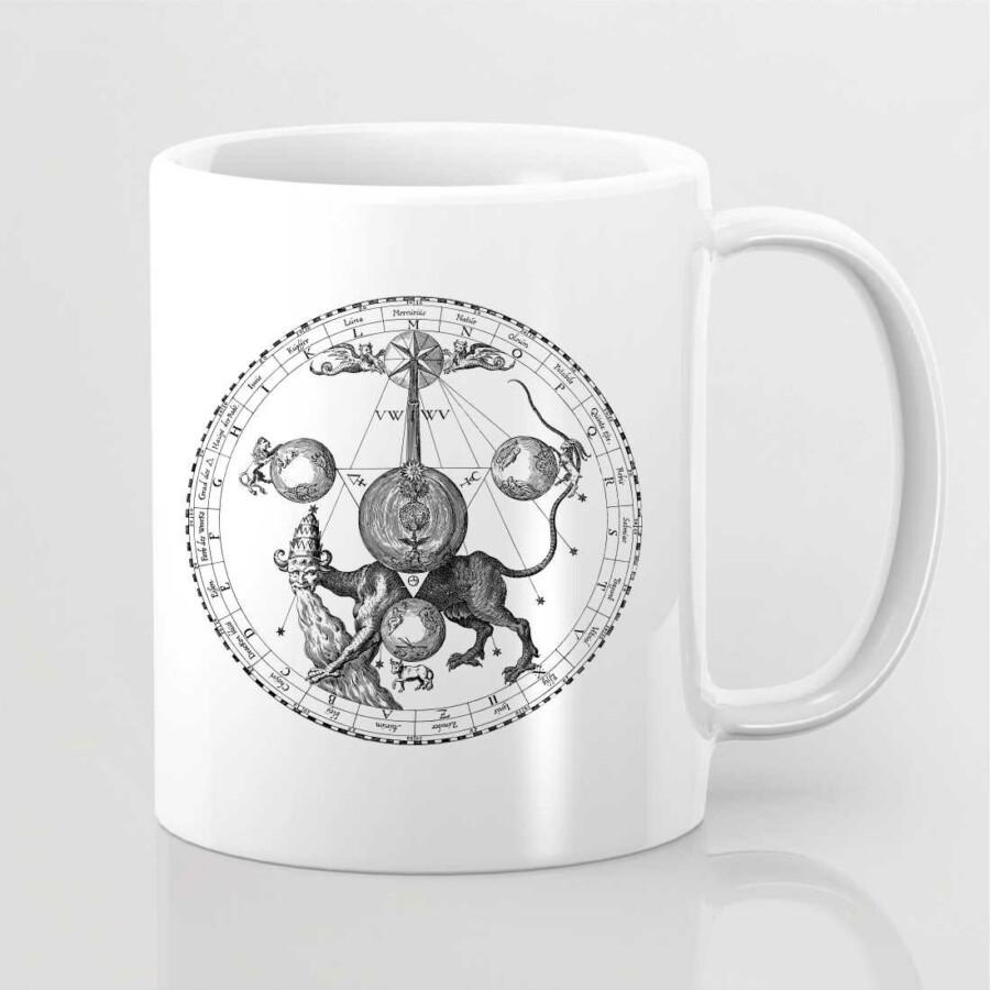 Ezoterikus szimbólummal ellátott bögre 12