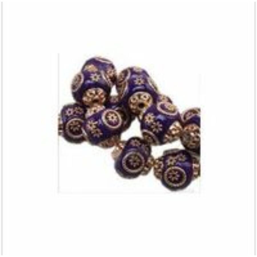 Indonéz gyöngy lila arany 5db/csomag
