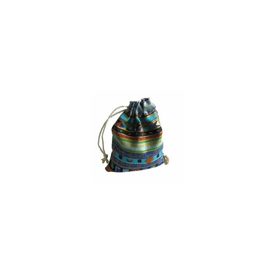 Tibeti mintás szütyő kék