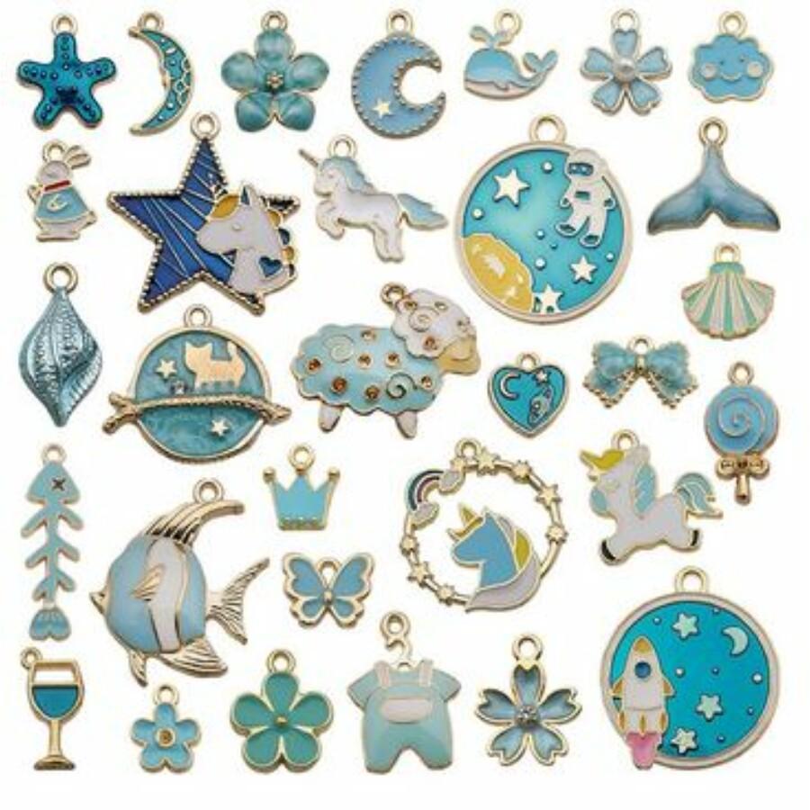 Bohém vegyes medál csomag kék
