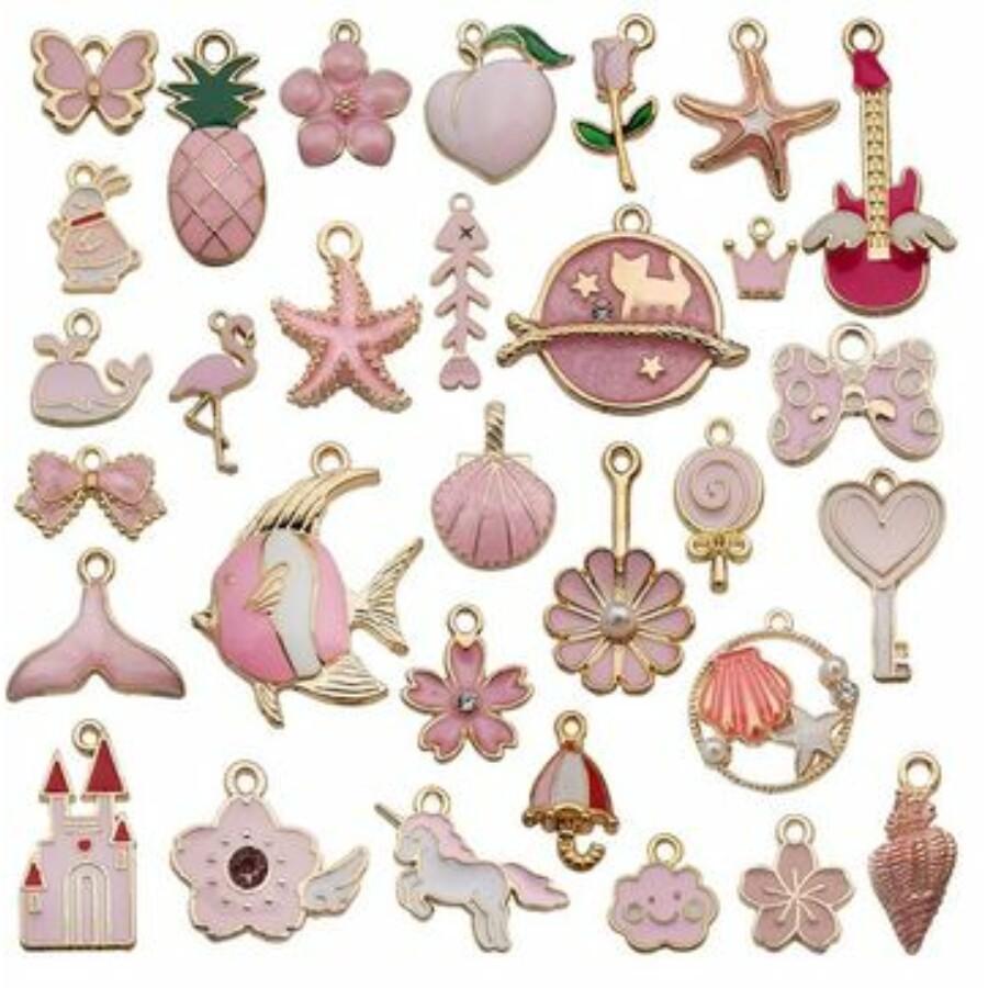 Bohém vegyes medál csomag rózsaszín