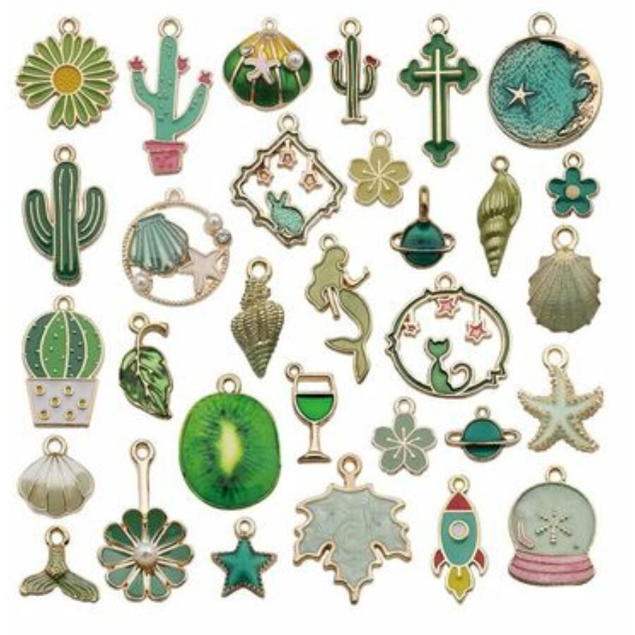 Bohém vegyes medál csomag zöld