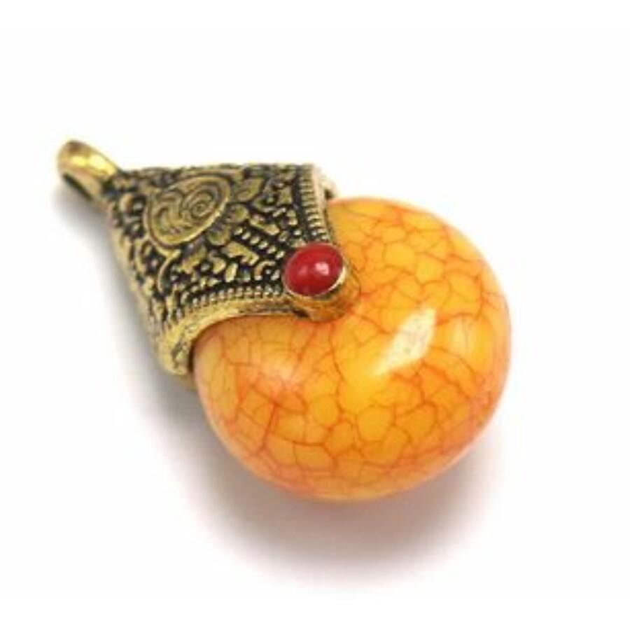 Tibeti medál sárga