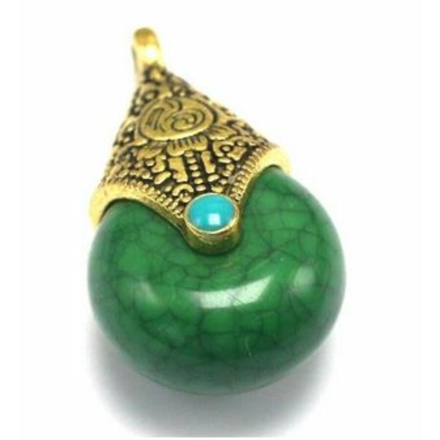 Tibeti medál zöld