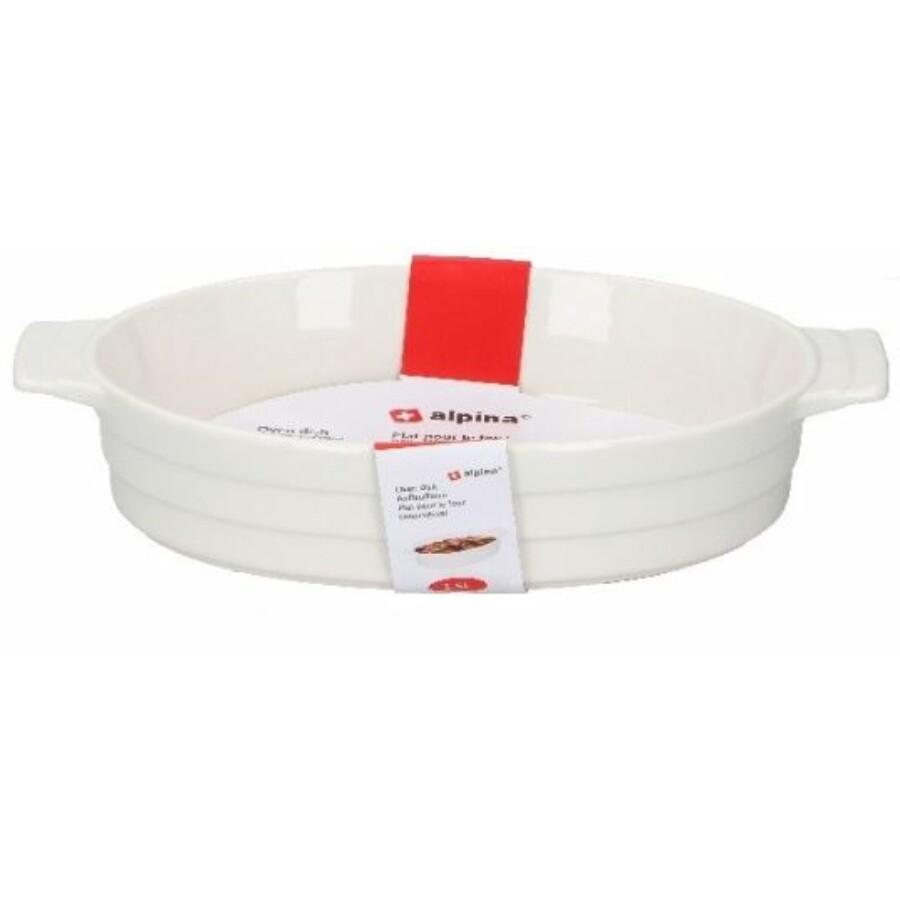 Kerámia sütőtál fehér 1.5 literes