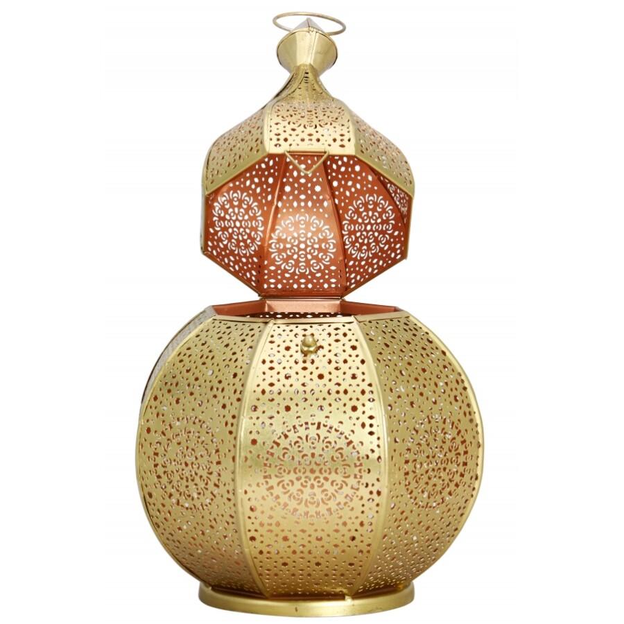 Anaram gyertya és mécsestartó arany