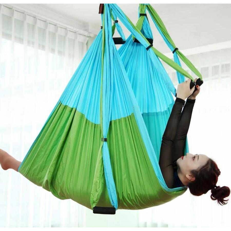 Antigravitációs jóga függőágy színjátszó zöld színű 4 méteres