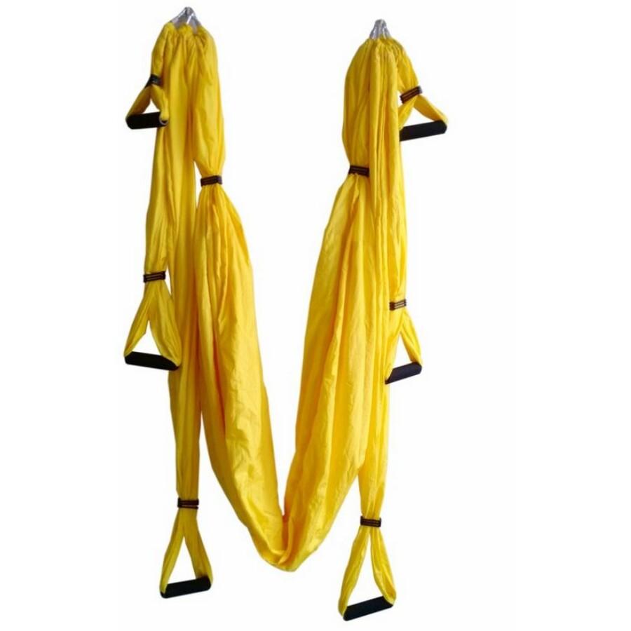 Antigravitációs jóga függőágy sárga színű