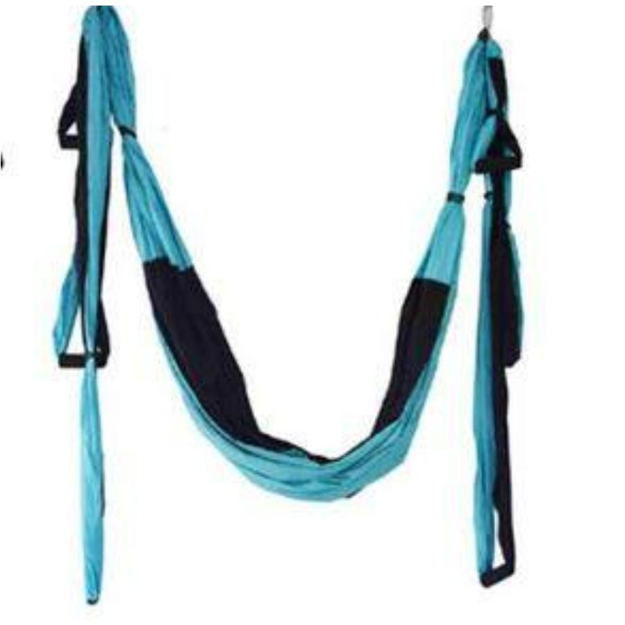 Antigravitációs jóga függőágy színjátszó kék - fekete színű