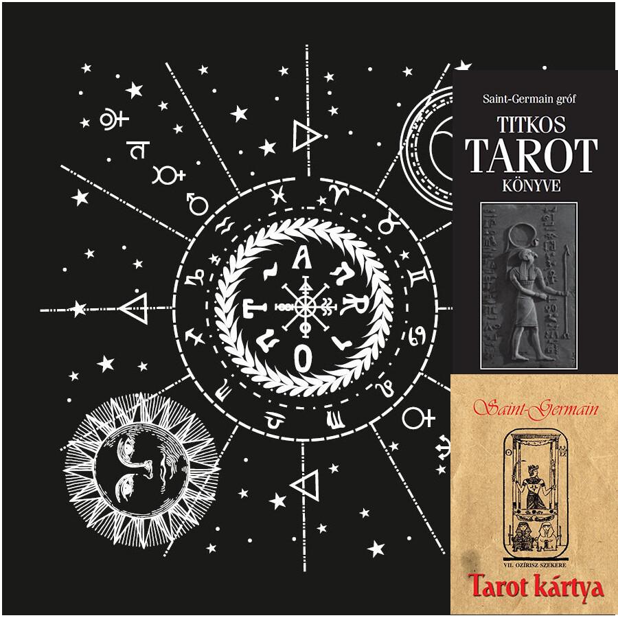 Saint-Germain gróf 22 lapos Tarot kártya, Saint-Germain gróf Tarot könyv + jósterítő