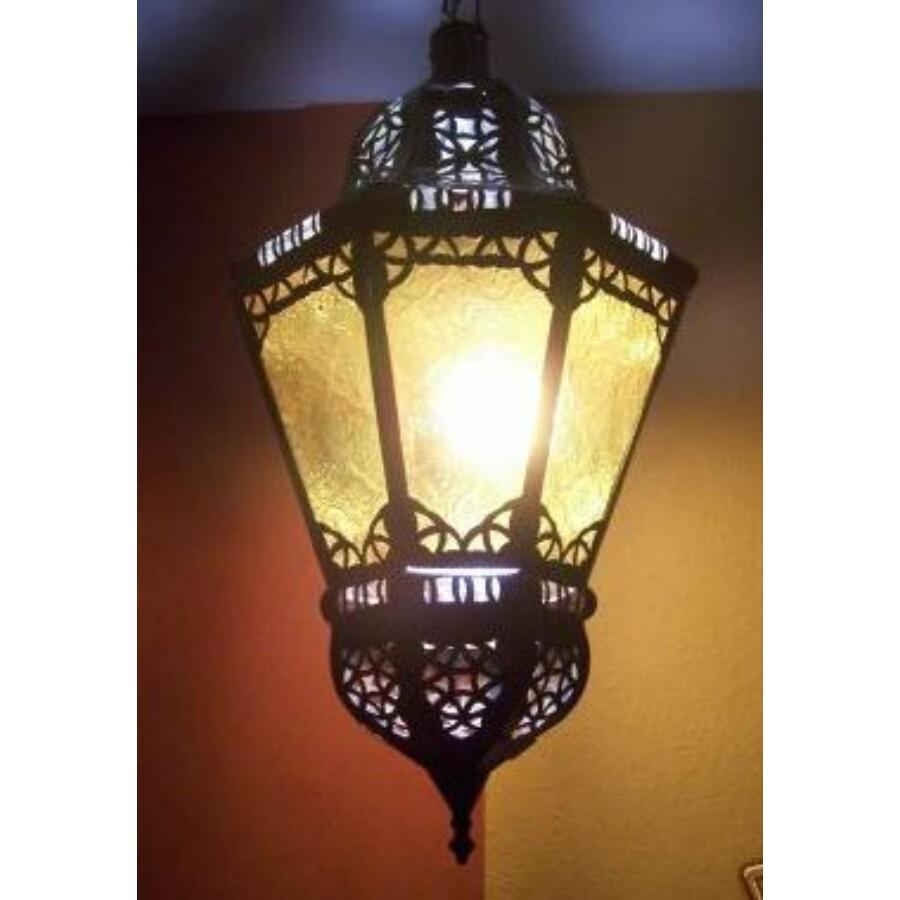 Ksar marokkói mennyezeti lámpa sárga