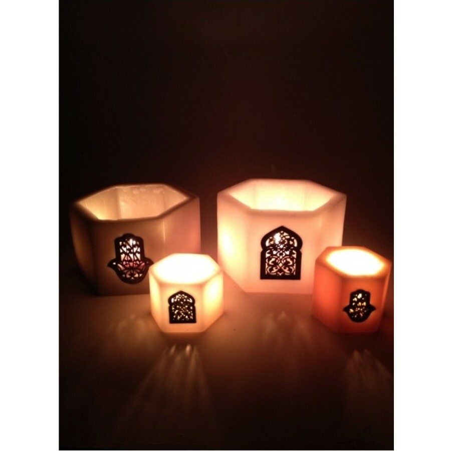 Paraffin mécsestartó  lámpa Fatima keze mintával