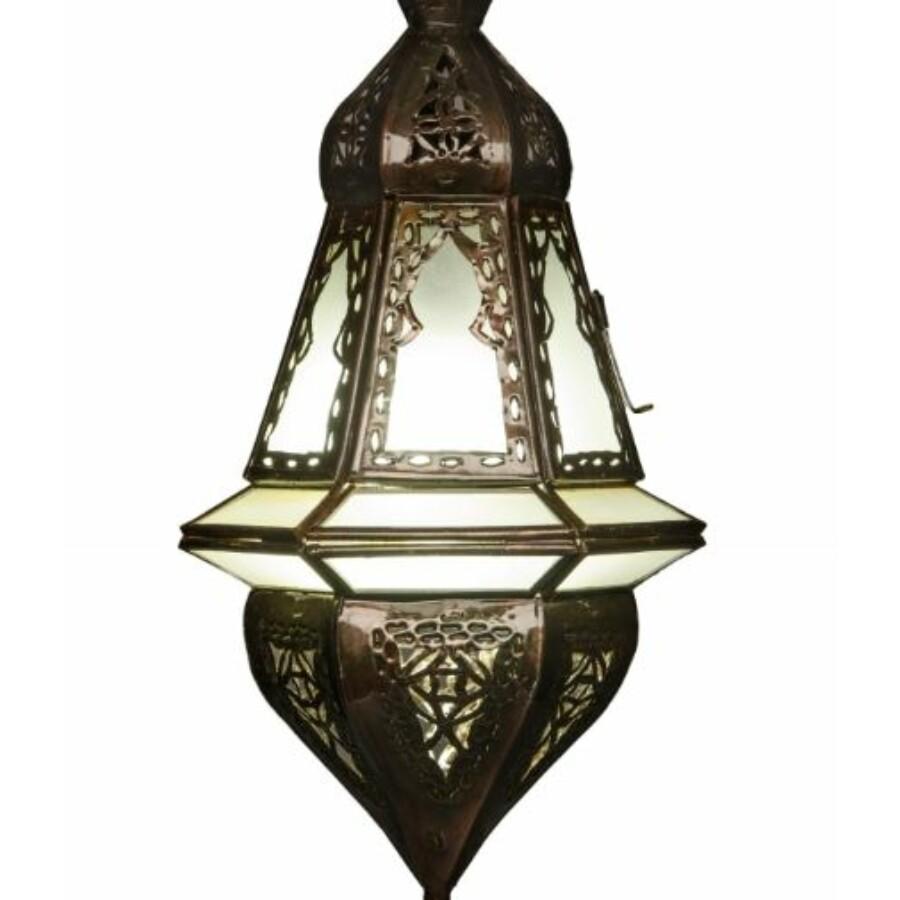 Anya marokkói mennyezeti lámpa fehér
