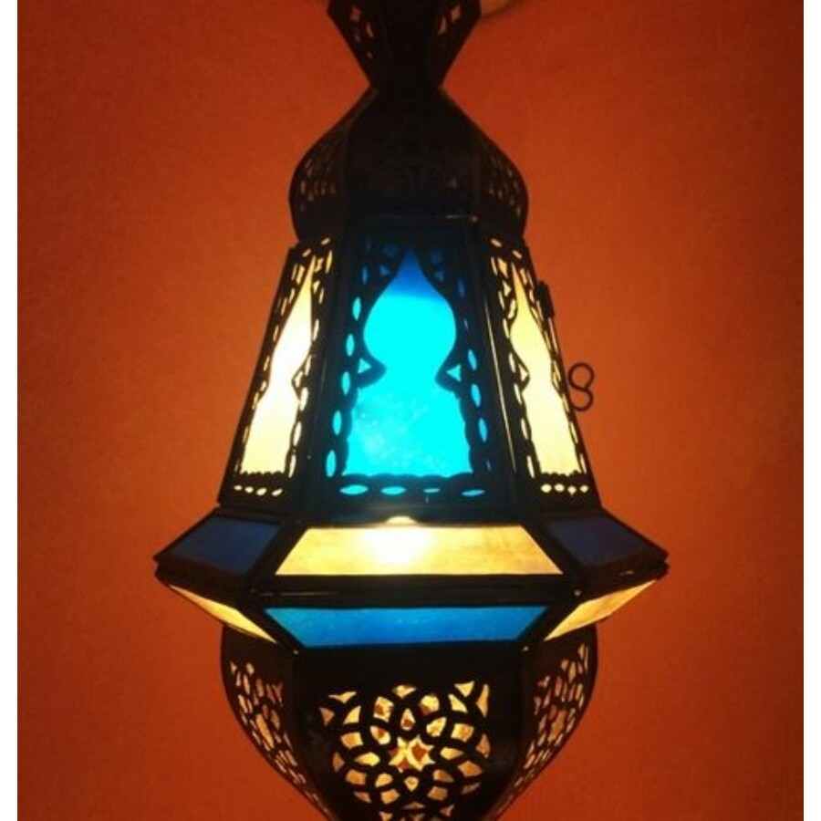 Anya marokkói mennyezeti lámpa kék