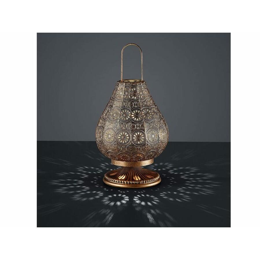 Jázmin marokkói asztali lámpa antik réz színű