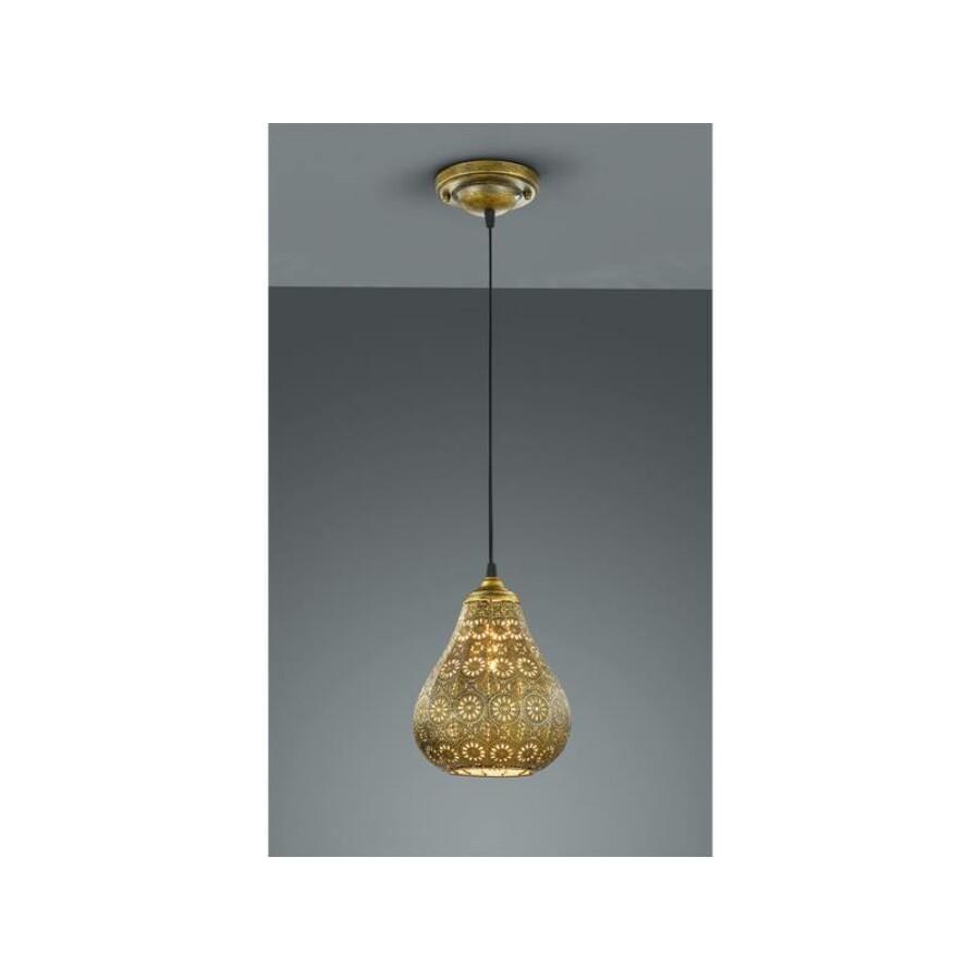 Jázmin marokkói mennyezeti lámpa arany színű