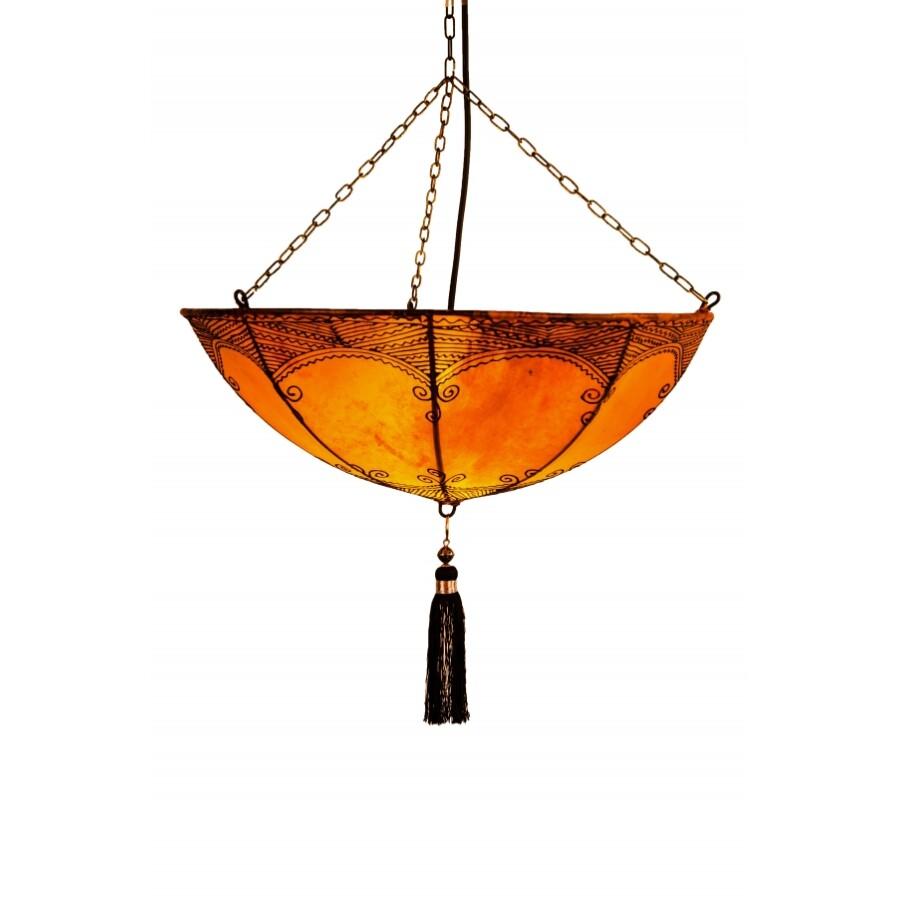 Kadaj marokkói henna mennyezeti lámpa narancssárga