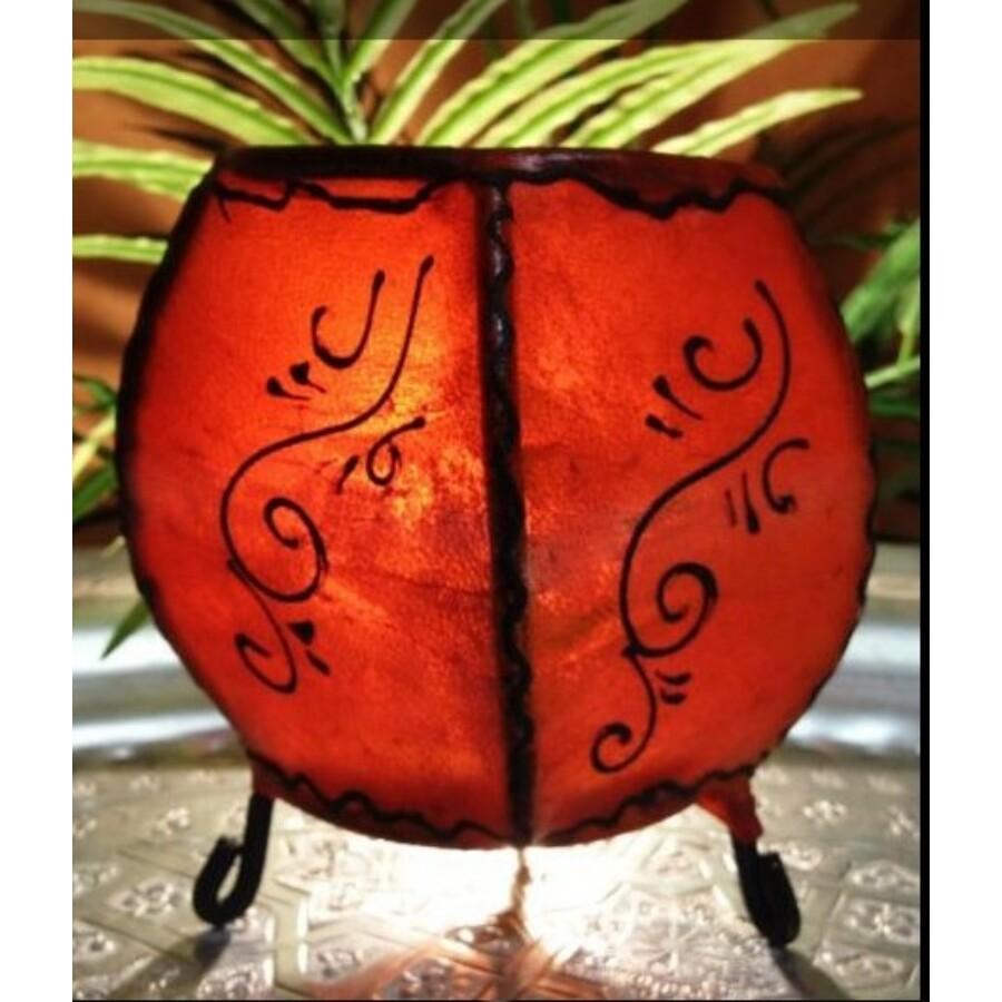 Hessa gömbölyű henna asztali lámpa narancs