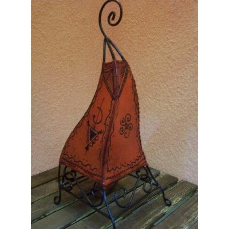 Marokkói henna állólámpa narancs 50 cm