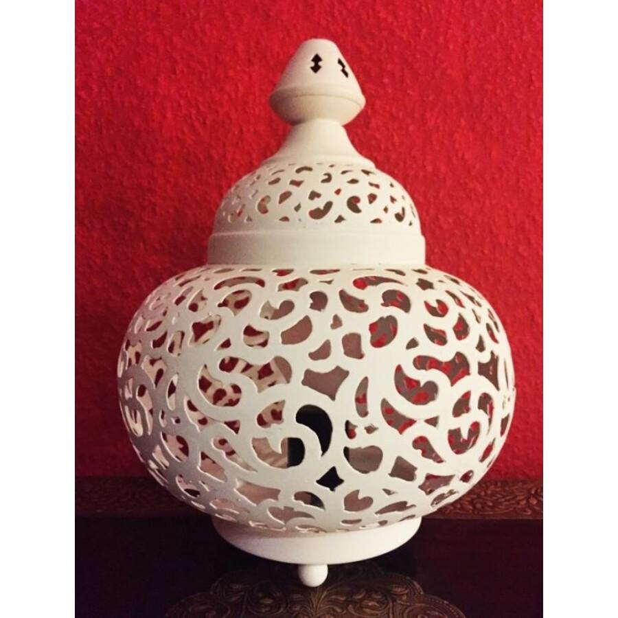 Nahla marokkói asztali fehér lámpa