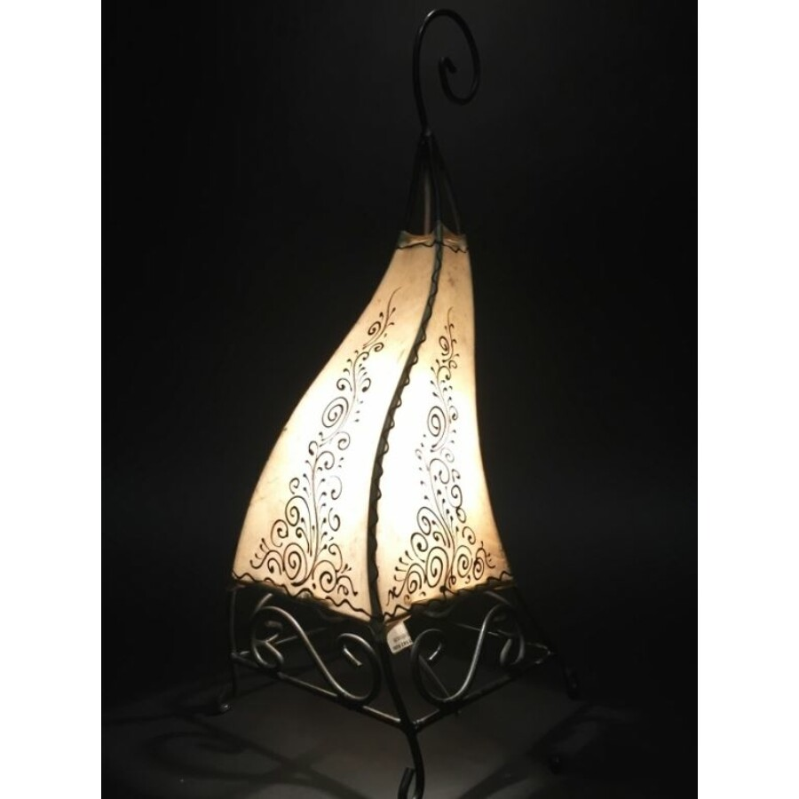 Rahaf marokkói henna állólámpa natúr 50 cm