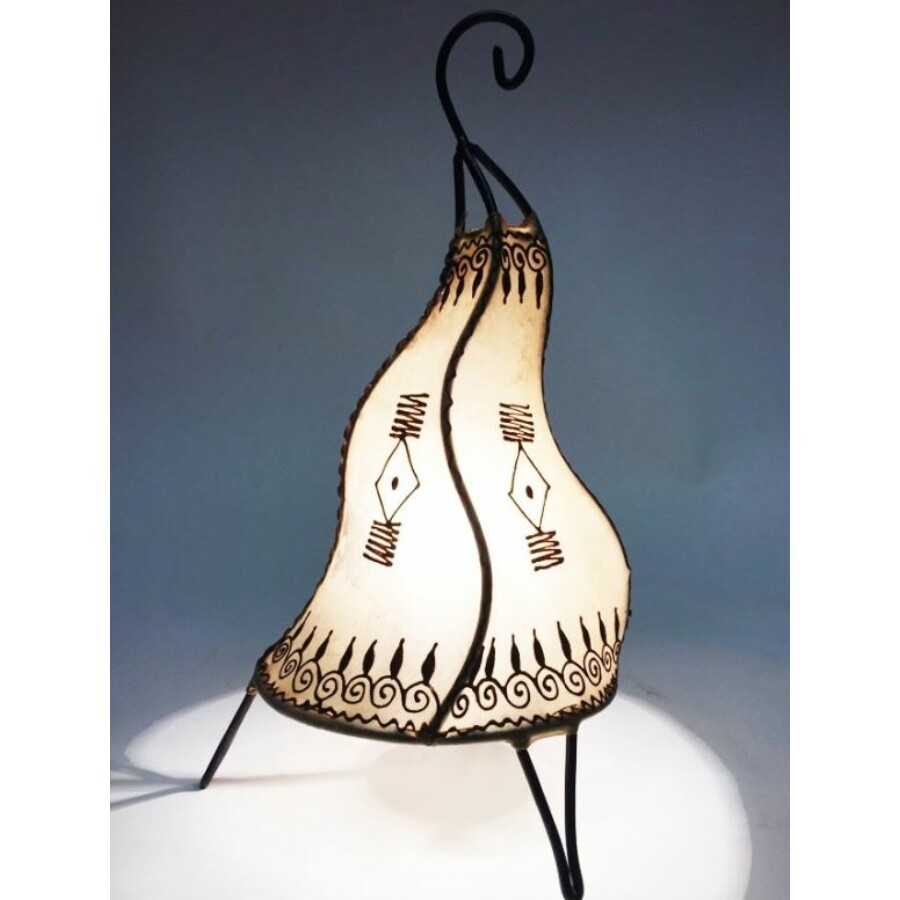 Zeliha marokkói henna állólámpa natúr 42 cm