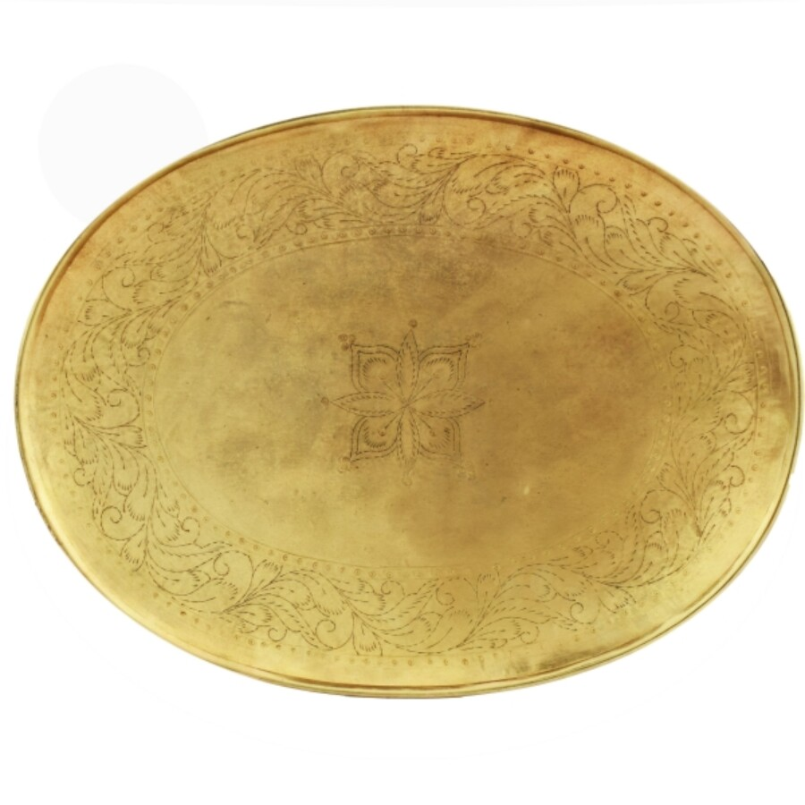 Bombay marokkói fémtál 32cm