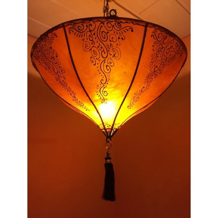 Dilay marokkói henna mennyezeti lámpa narancssárga
