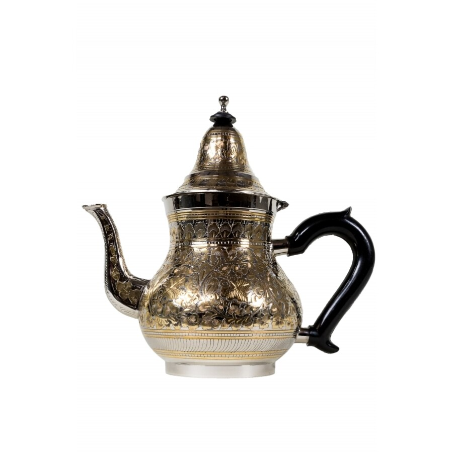 Baha marokkói teakiöntő ezüst/arany XL 1400 ml