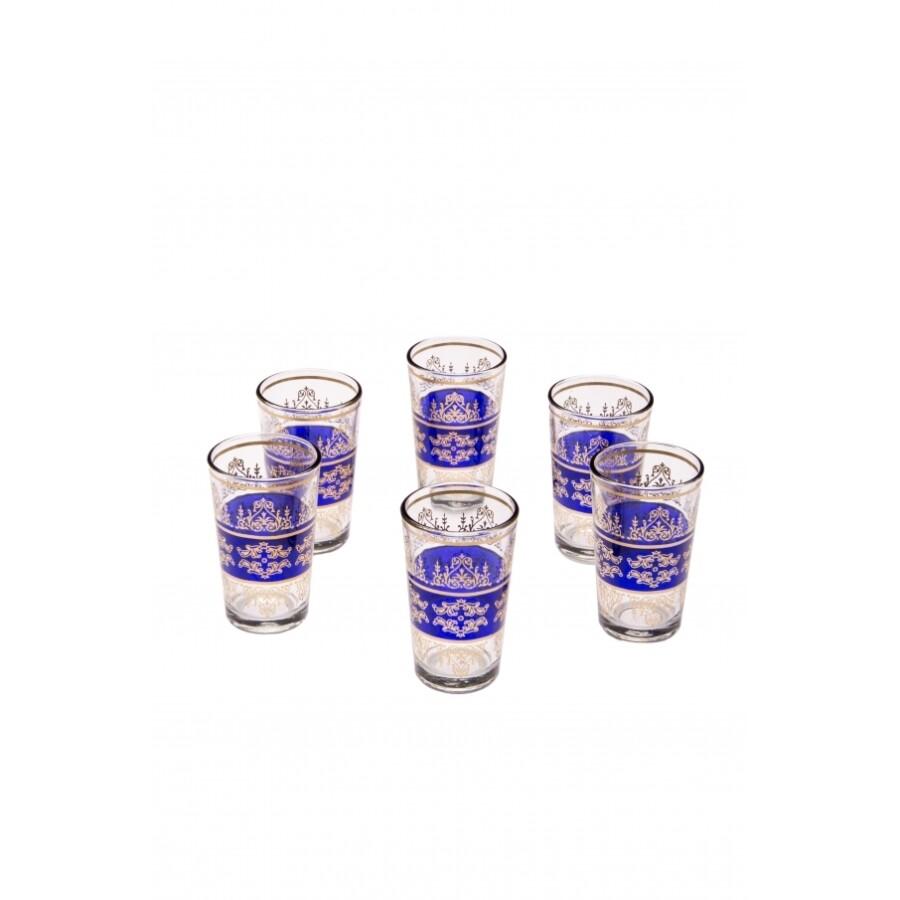 Marrakesch marokkói tea pohár kék