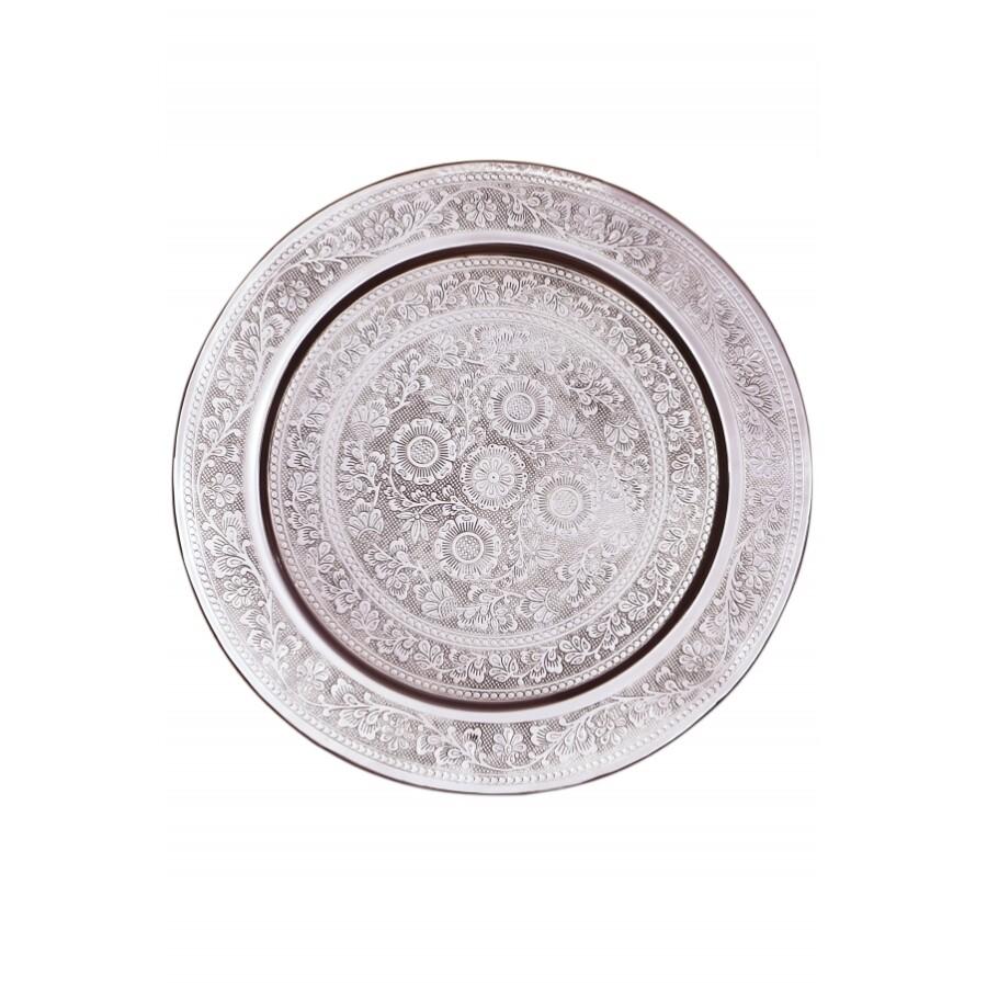Afaf ezüst marokkói tálca 60 cm