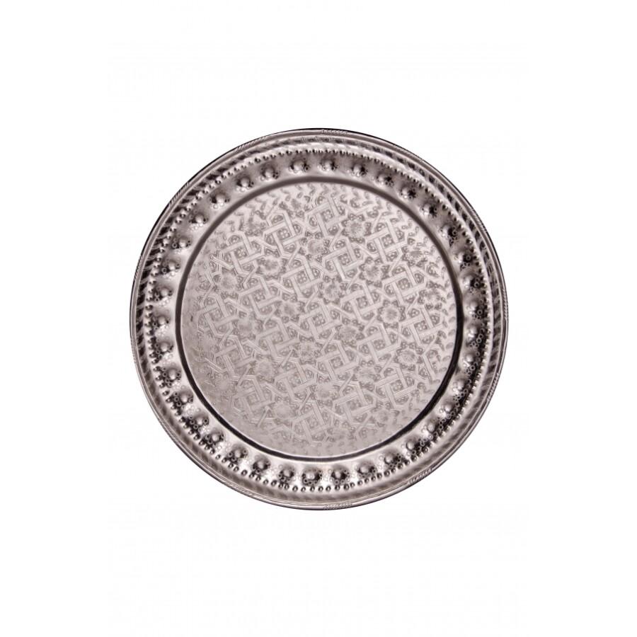Amana ezüst marokkói tálca 60 cm