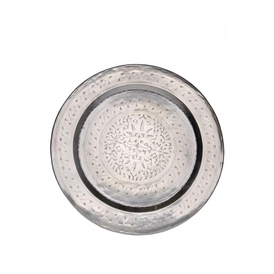 Ismail ezüst marokkói tálca 58 cm