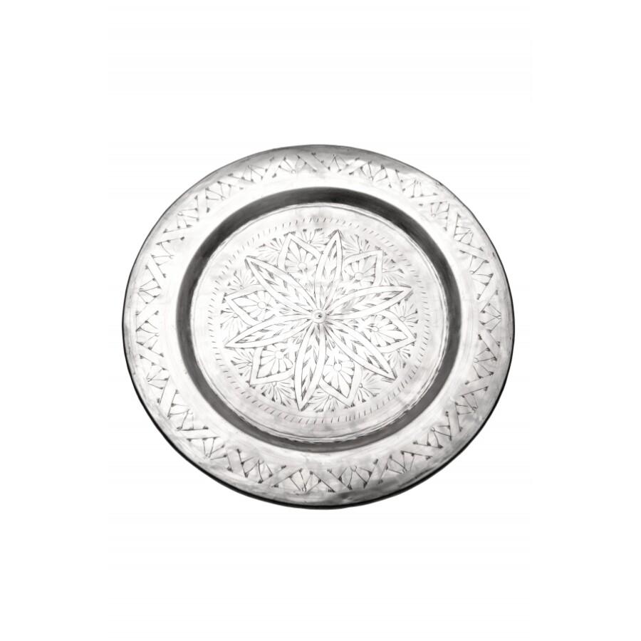 Khaliq ezüst marokkói tálca 48 cm