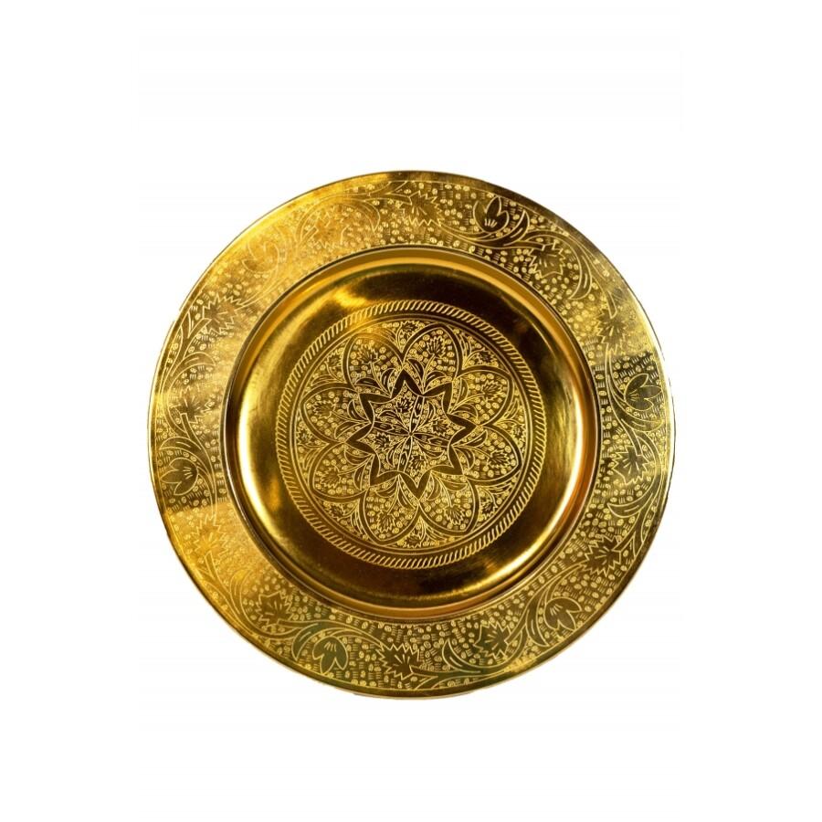 Sidra arany marokkói tálca 30 cm
