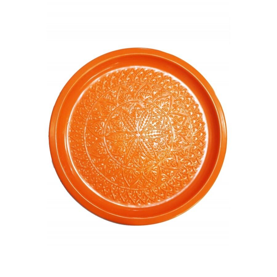 Tatmanur narancssárga marokkói tálca 40 cm