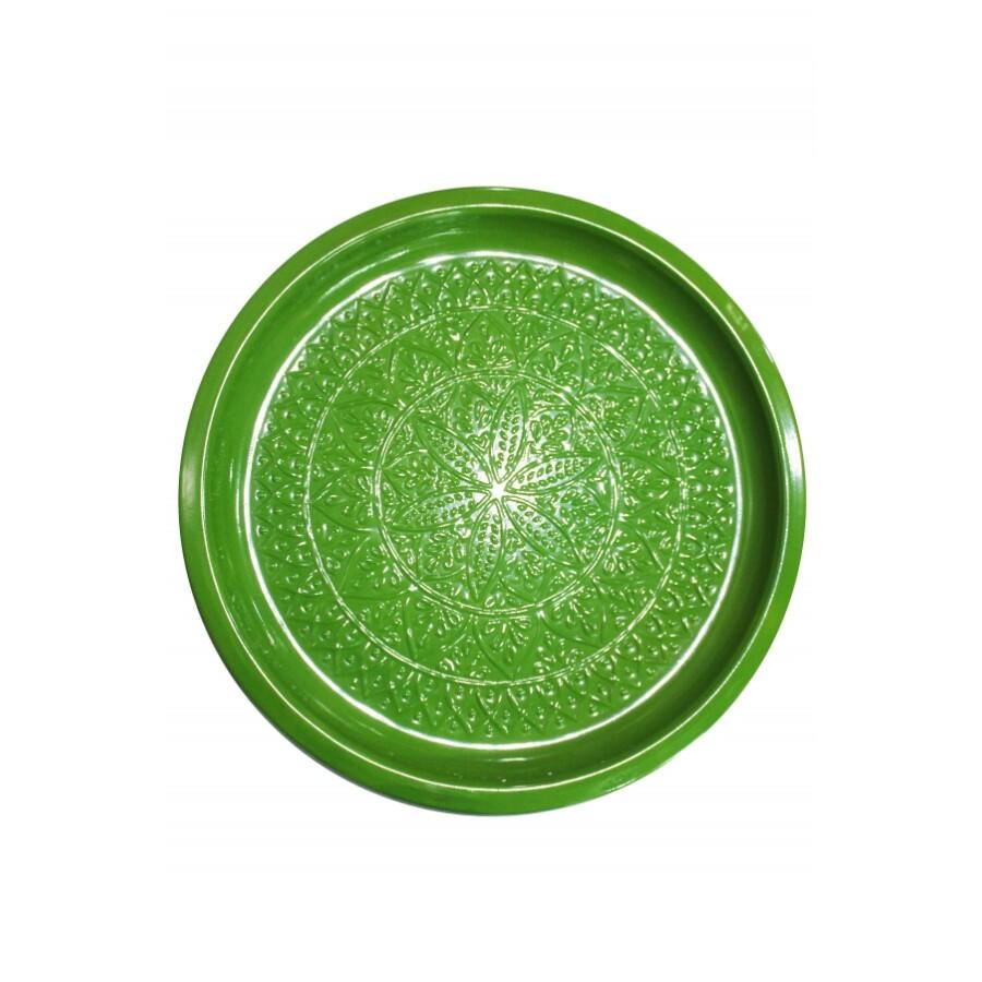 Tatmanur zöld marokkói tálca 40 cm