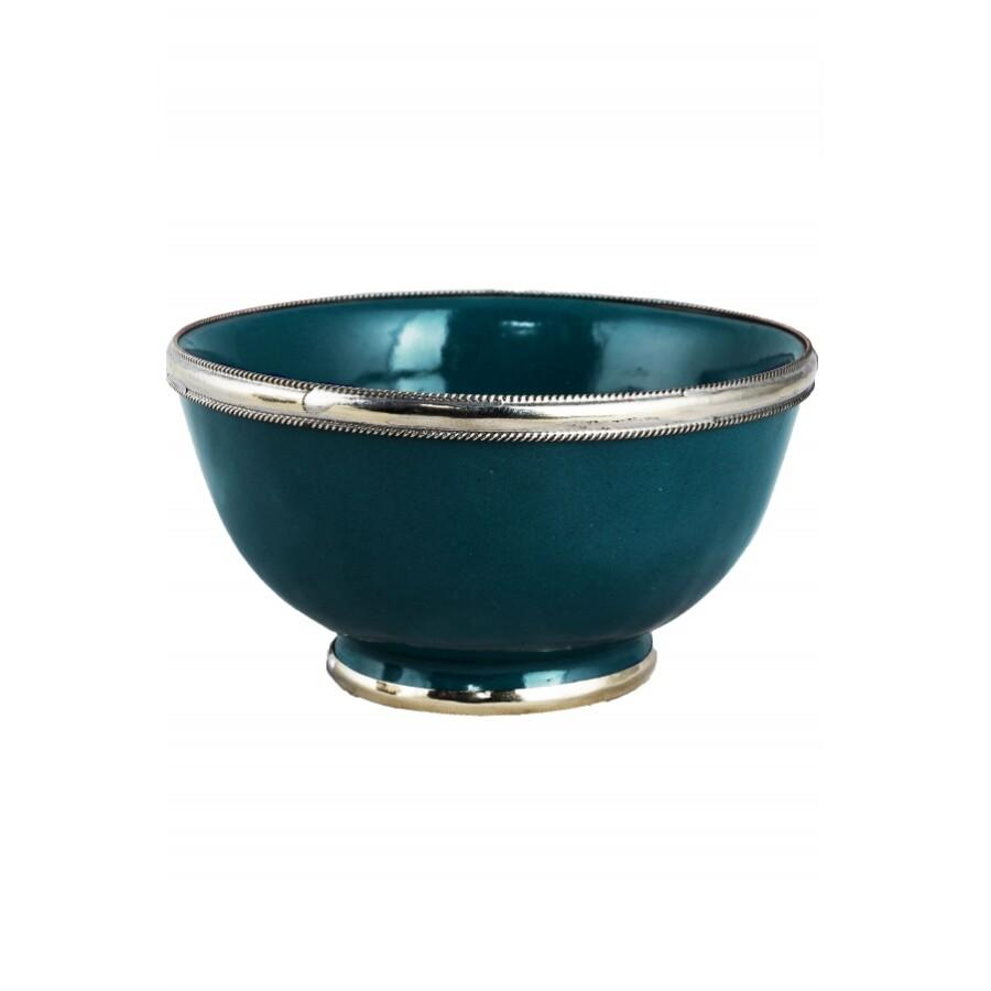 Cariba marokkói kerámia tányér kék