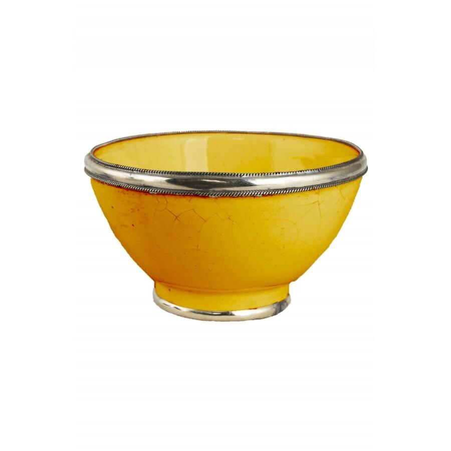 Cariba marokkói kerámia tányér sárga