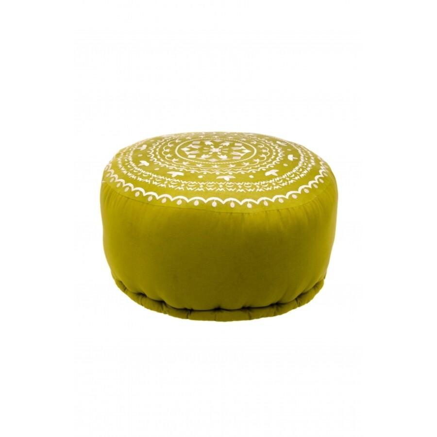 Jabran keleti textil puff ülőpárna zöld
