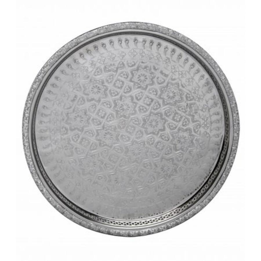Nadia ezüst marokkói tálca 37 cm