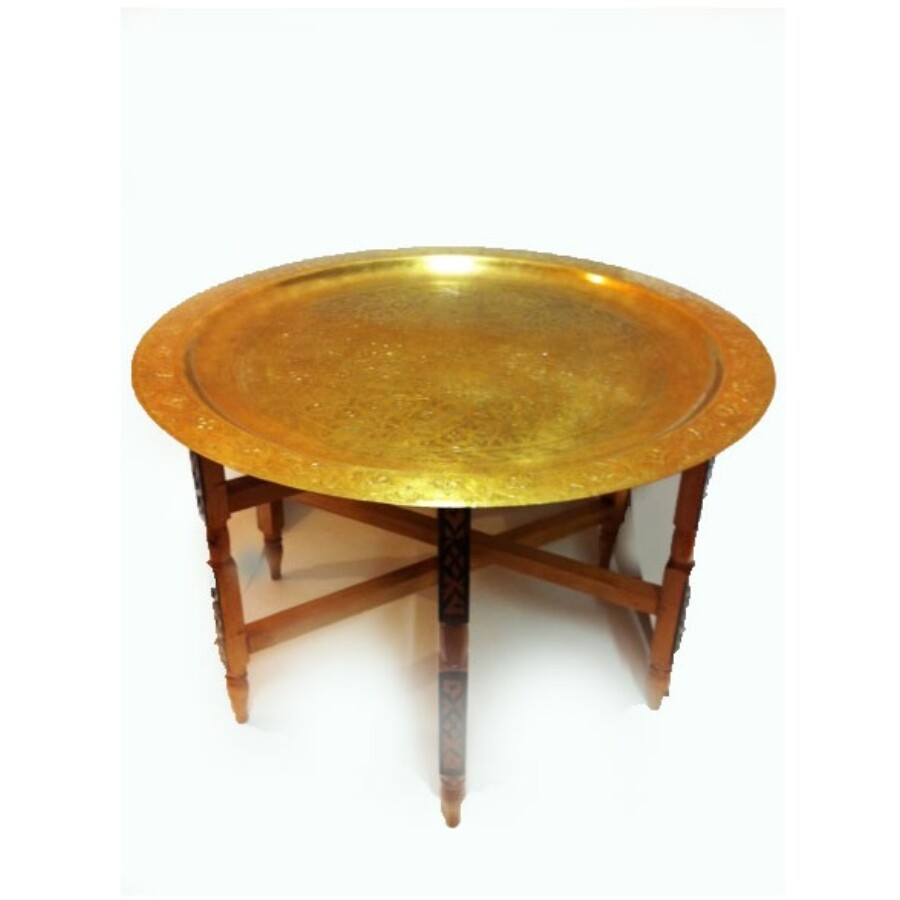 Iman antik keleti teázó asztal antik színben 80 cm