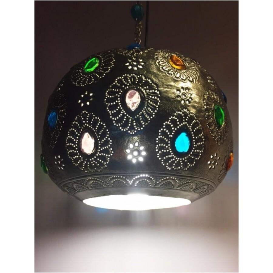 Ishraq indiai mennyezeti lámpa arany